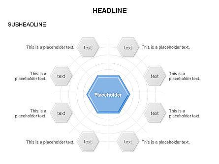 Interacting Hexagons Diagram, Slide 6, 03459, Business Models — PoweredTemplate.com