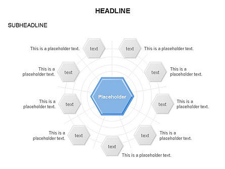Interacting Hexagons Diagram, Slide 7, 03459, Business Models — PoweredTemplate.com