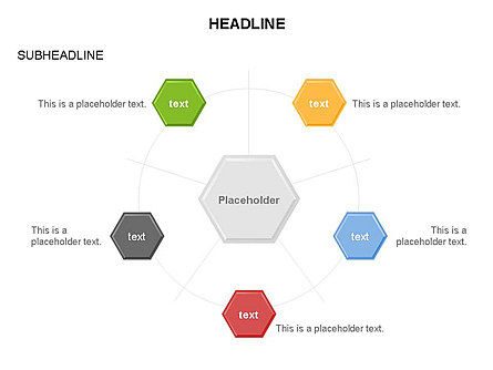 Interacting Hexagons Diagram, Slide 9, 03459, Business Models — PoweredTemplate.com