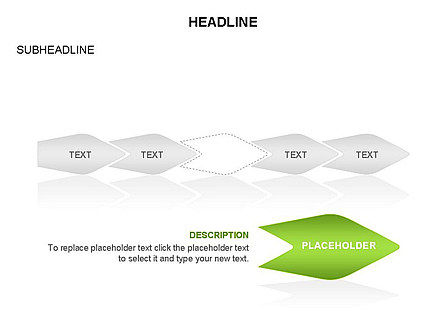Ink Pen Shape Diagrams, Slide 5, 03460, Business Models — PoweredTemplate.com