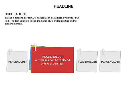 Scratch Paper Shapes, Slide 10, 03467, Shapes — PoweredTemplate.com