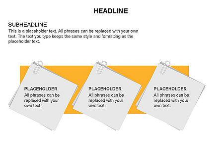 Scratch Paper Shapes, Slide 16, 03467, Shapes — PoweredTemplate.com
