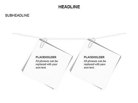 Scratch Paper Shapes, Slide 17, 03467, Shapes — PoweredTemplate.com