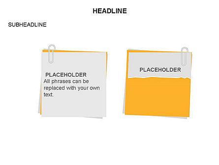 Scratch Paper Shapes, Slide 22, 03467, Shapes — PoweredTemplate.com