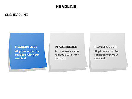 Scratch Paper Shapes, Slide 23, 03467, Shapes — PoweredTemplate.com