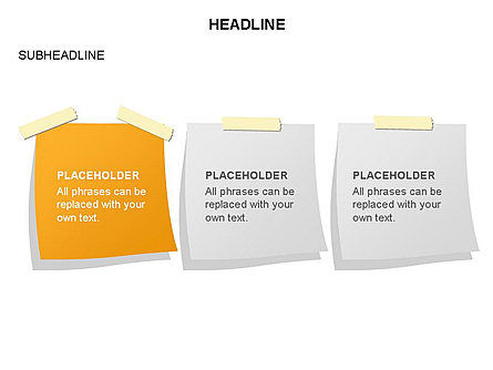 Scratch Paper Shapes, Slide 24, 03467, Shapes — PoweredTemplate.com