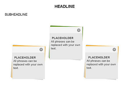 Scratch Paper Shapes, Slide 26, 03467, Shapes — PoweredTemplate.com