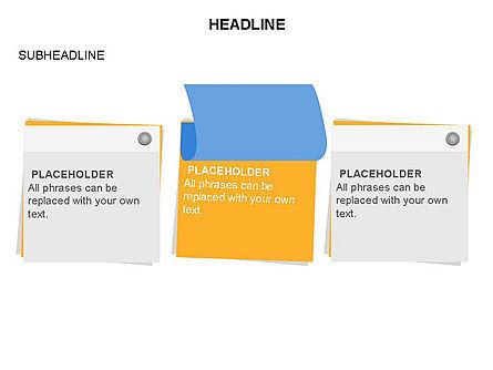 Scratch Paper Shapes, Slide 27, 03467, Shapes — PoweredTemplate.com