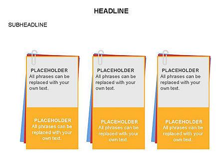 Scratch Paper Shapes, Slide 29, 03467, Shapes — PoweredTemplate.com