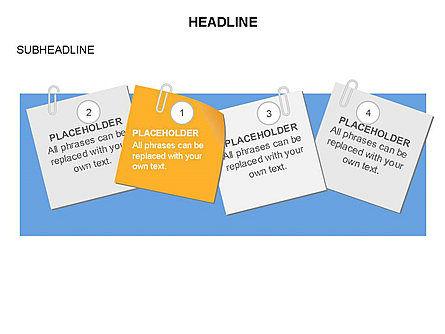 Scratch Paper Shapes, Slide 32, 03467, Shapes — PoweredTemplate.com