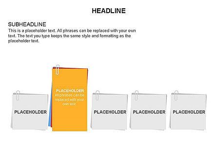 Scratch Paper Shapes, Slide 5, 03467, Shapes — PoweredTemplate.com