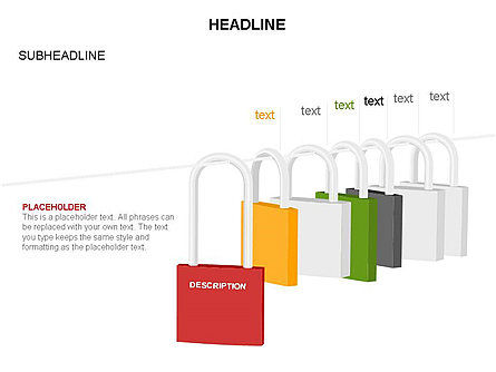Lock Diagram Collection, Slide 38, 03471, Stage Diagrams — PoweredTemplate.com