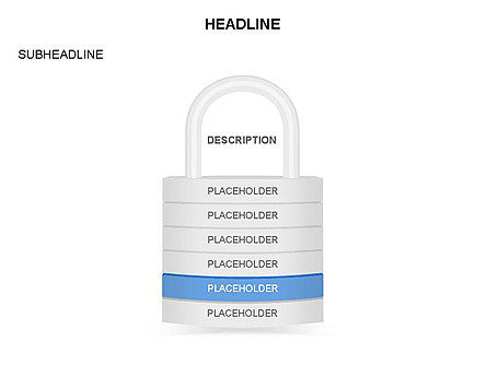 Lock Diagram Collection, Slide 6, 03471, Stage Diagrams — PoweredTemplate.com