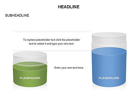Plastic Jar Diagrams, Slide 17, 03472, Business Models — PoweredTemplate.com