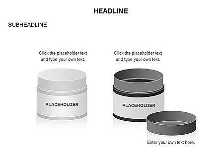 Plastic Jar Diagrams, Slide 18, 03472, Business Models — PoweredTemplate.com