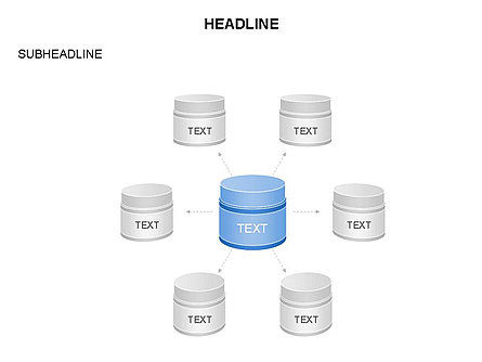 Plastic Jar Diagrams, Slide 24, 03472, Business Models — PoweredTemplate.com
