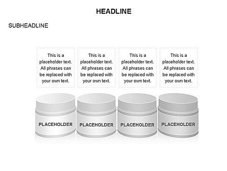 Plastic Jar Diagrams, Slide 3, 03472, Business Models — PoweredTemplate.com