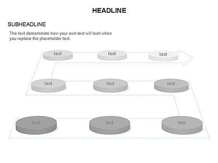 Process Network and Org Chart Collection, Slide 9, 03473, Business Models — PoweredTemplate.com