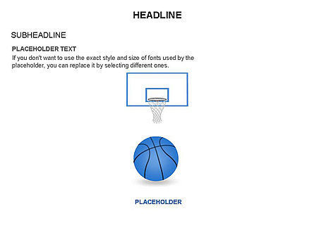 Basketball Shapes and Silhouettes, 03475, Silhouettes — PoweredTemplate.com