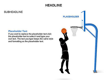 Basketball Shapes and Silhouettes, Slide 11, 03475, Silhouettes — PoweredTemplate.com