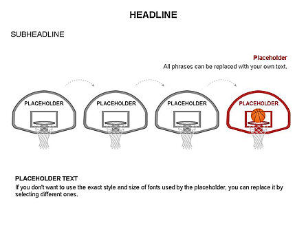 Basketball Shapes and Silhouettes, Slide 13, 03475, Silhouettes — PoweredTemplate.com
