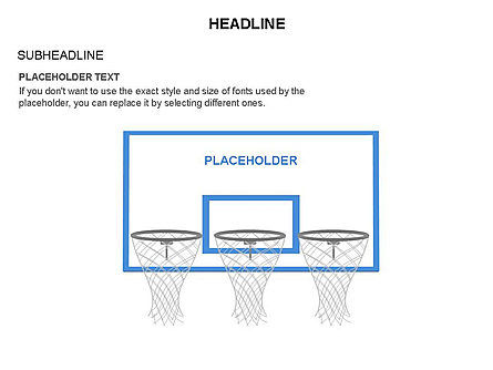 Basketball Shapes and Silhouettes, Slide 14, 03475, Silhouettes — PoweredTemplate.com