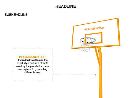 Basketball Shapes and Silhouettes, Slide 15, 03475, Silhouettes — PoweredTemplate.com