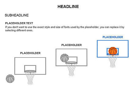 Basketball Shapes and Silhouettes, Slide 16, 03475, Silhouettes — PoweredTemplate.com