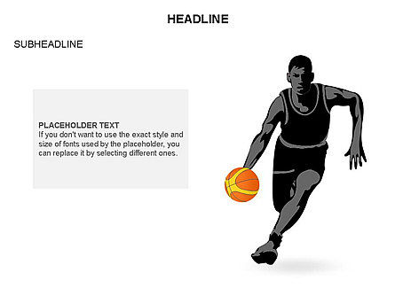 Basketball Shapes and Silhouettes, Slide 18, 03475, Silhouettes — PoweredTemplate.com
