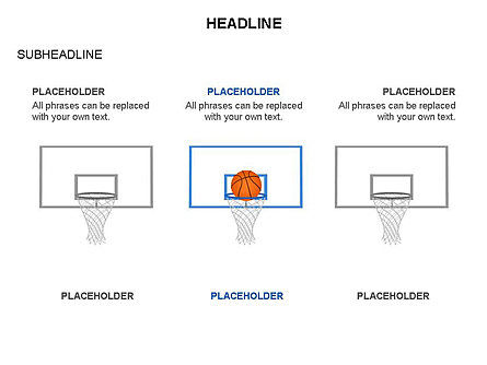 Basketball Shapes and Silhouettes, Slide 2, 03475, Silhouettes — PoweredTemplate.com