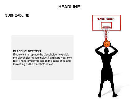 Basketball Shapes and Silhouettes, Slide 25, 03475, Silhouettes — PoweredTemplate.com