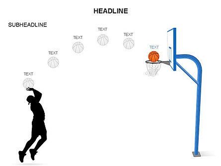 Basketball Shapes and Silhouettes, Slide 26, 03475, Silhouettes — PoweredTemplate.com