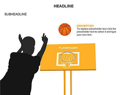 Basketball Shapes and Silhouettes, Slide 29, 03475, Silhouettes — PoweredTemplate.com