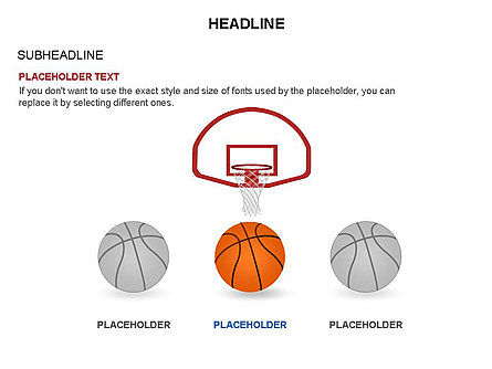 Basketball Shapes and Silhouettes, Slide 3, 03475, Silhouettes — PoweredTemplate.com
