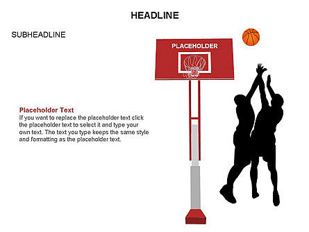 Basketball Shapes and Silhouettes, Slide 30, 03475, Silhouettes — PoweredTemplate.com