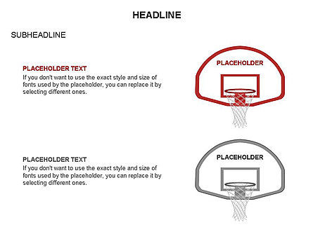 Basketball Shapes and Silhouettes, Slide 4, 03475, Silhouettes — PoweredTemplate.com