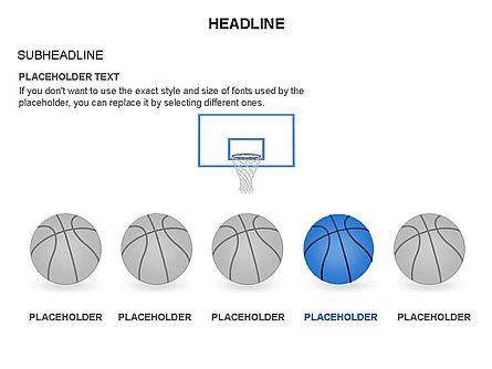 Basketball Shapes and Silhouettes, Slide 6, 03475, Silhouettes — PoweredTemplate.com