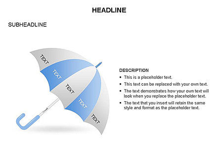 Umbrella Diagram, Slide 11, 03476, Business Models — PoweredTemplate.com