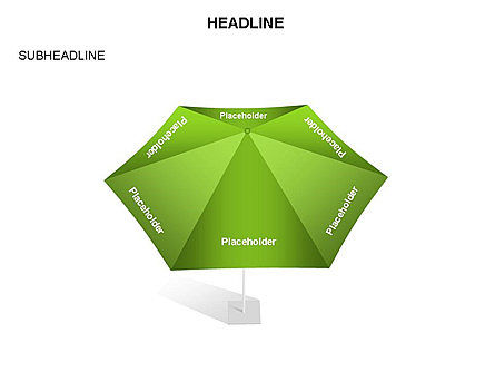 Umbrella Diagram, Slide 34, 03476, Business Models — PoweredTemplate.com