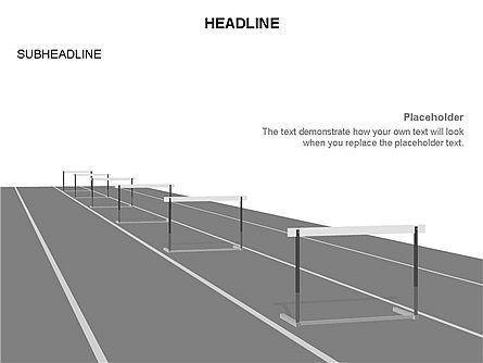 Steeplechase Shapes, Slide 12, 03477, Silhouettes — PoweredTemplate.com