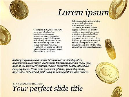 Money Falling From the Sky, Slide 11, 03481, Presentation Templates — PoweredTemplate.com