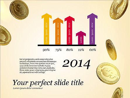 Money Falling From the Sky, Slide 14, 03481, Presentation Templates — PoweredTemplate.com
