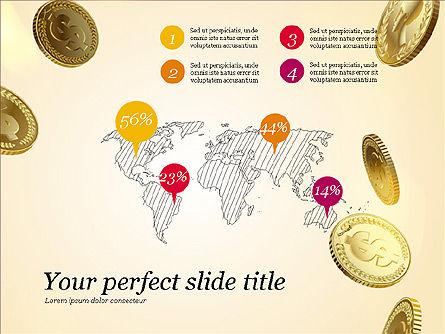 Money Falling From the Sky, Slide 16, 03481, Presentation Templates — PoweredTemplate.com
