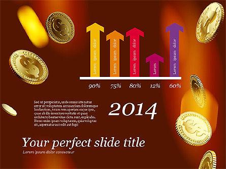 Money Falling From the Sky, Slide 6, 03481, Presentation Templates — PoweredTemplate.com