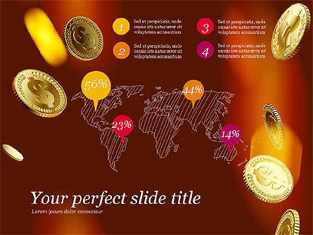 Money Falling From the Sky, Slide 8, 03481, Presentation Templates — PoweredTemplate.com