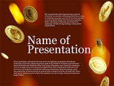 Presentation Templates: Money Falling From the Sky #03481