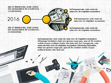 Creative Report Presentation Concept, Slide 4, 03491, Presentation Templates — PoweredTemplate.com
