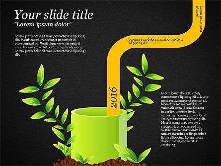 Sprout Infographics, Slide 10, 03492, Infographics — PoweredTemplate.com
