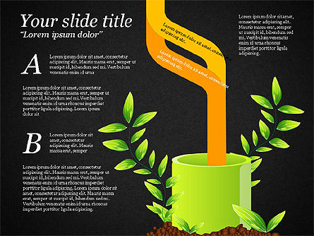Sprout Infographics, Slide 14, 03492, Infographics — PoweredTemplate.com