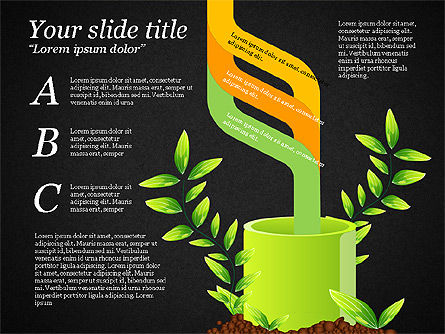 Sprout Infographics, Slide 15, 03492, Infographics — PoweredTemplate.com
